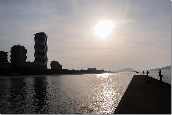 愛宕浜の夕日