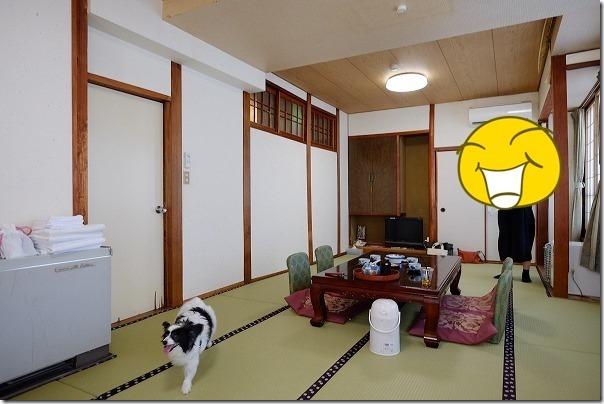 犬と菊池温泉・宝来館へ宿泊(熊本県菊池市)