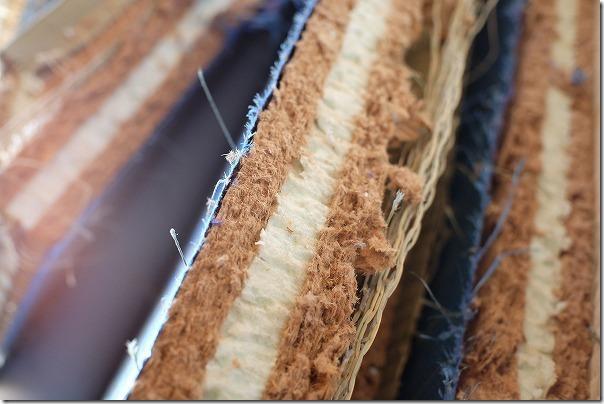 畳の切断面