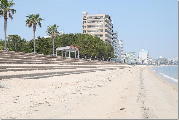 長垂海浜公園の砂浜