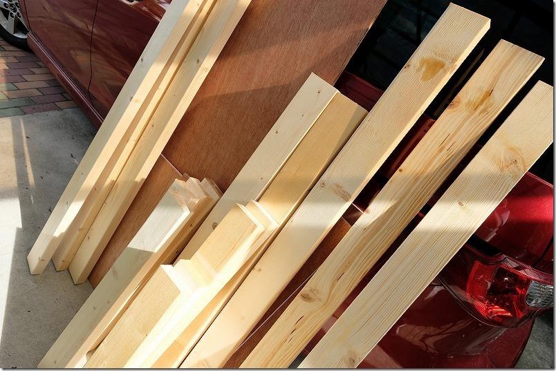 DIYで階段下収納を制作の費用と材料