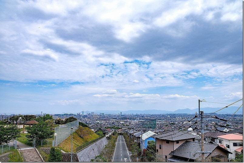 生松台中央公園から叶岳へ