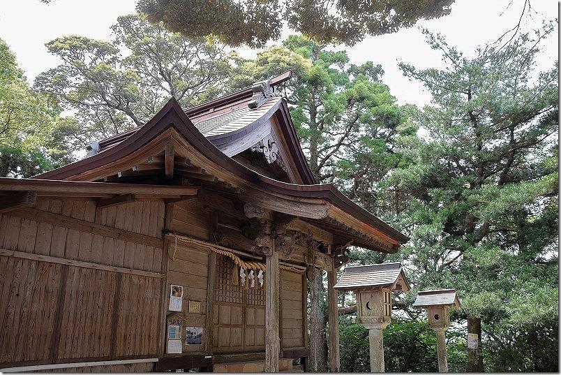 叶嶽神社。叶岳山頂付近