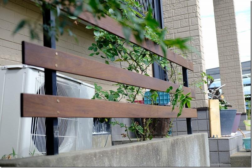 DIYでハードウッド・イペのフェンス作成・塗装