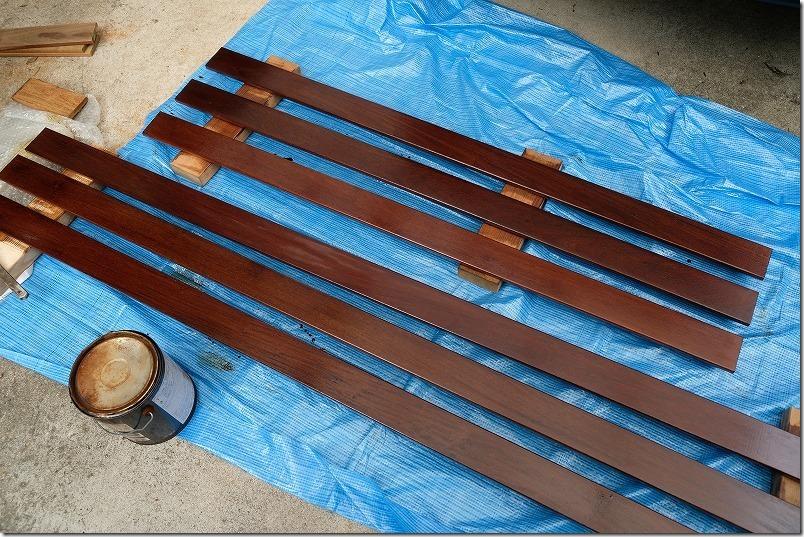 ハードウッド・イペの柵を塗装