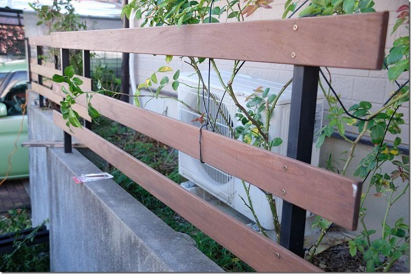 ハードウッド・イペで柵・フェンスの取り付け